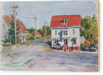 Salty Market, North Truro Wood Print by Peter Salwen