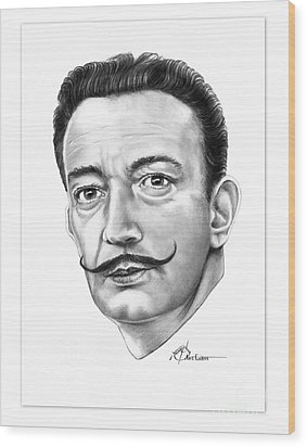 Salvador Dali Wood Print by Murphy Elliott