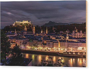 Wood Print featuring the photograph Salzburg Austria by David Morefield