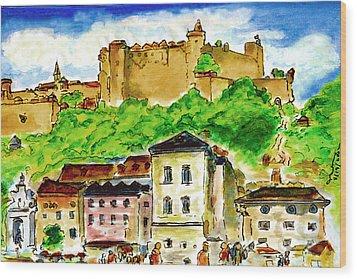 Salzburg Austria Jgibney The Museum Wood Print by The MUSEUM Artist Series jGibney