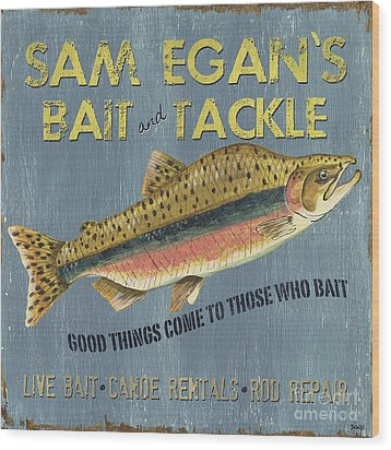 Sam Egan's Bait And Tackle Wood Print by Debbie DeWitt