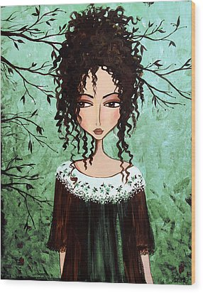 Samantha's Chocolate Tree Wood Print by Debbie Horton