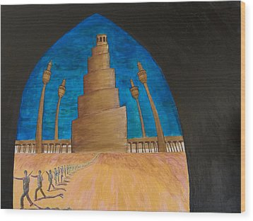Samarra Wood Print by Julia Collard