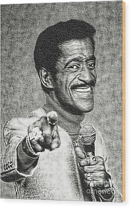 Sammy Davis Jr - Entertainer Wood Print by Ian Gledhill