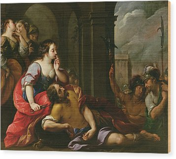 Samson And Delilah Wood Print by Giuseppe Nuvolone