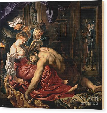 Samson And Delilah Wood Print by Peter Paul Rubens