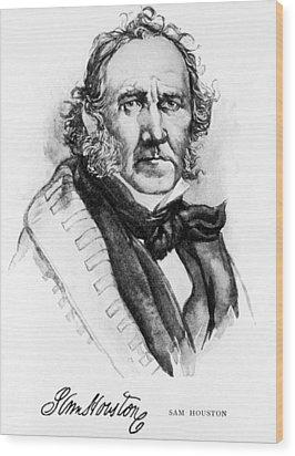 Samuel Houston, 1793-1863, American Wood Print by Everett