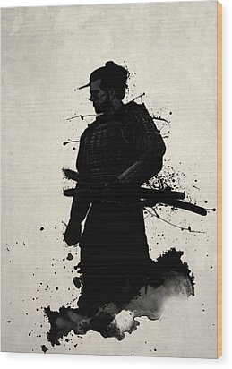 Wood Print featuring the painting Samurai by Nicklas Gustafsson