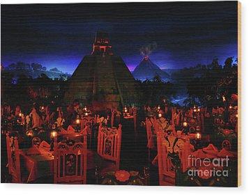 San Angel Inn Mexico Wood Print by David Lee Thompson