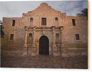 San Antonio Alamo At Sunrise Wood Print by Samuel Kessler