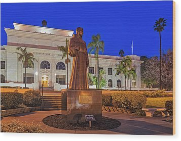 Wood Print featuring the photograph San Buenaventura City Hall by Susan Candelario