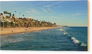Wood Print featuring the photograph San Clemente Coastline - California by Glenn McCarthy Art and Photography