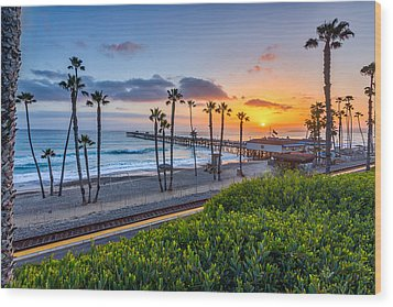 San Clemente Wood Print by Peter Tellone