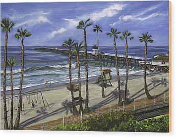 San Clemente Pier Wood Print by Lisa Reinhardt