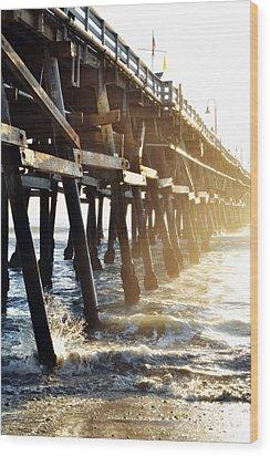 Wood Print featuring the photograph San Clemente Pier Magic Hour by Kyle Hanson