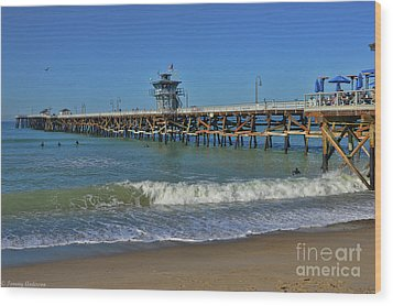 San Clemente Pier Wood Print by Tommy Anderson