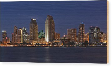 San Diego America's Finest City Wood Print by Larry Marshall