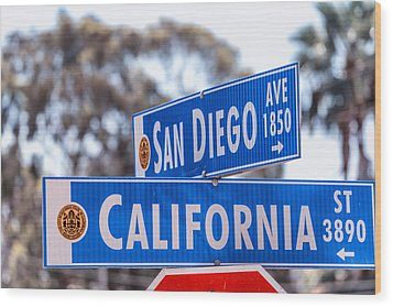 San Diego Crossing Over California Wood Print