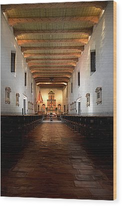 Wood Print featuring the photograph San Diego De Alcala by Christine Till