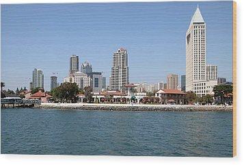 San Diego Skyline 3 Wood Print by Joseph R Luciano