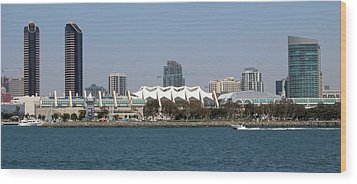San Diego Skyline 4 Wood Print by Joseph R Luciano