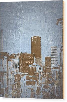 San Francisco 2 Wood Print by Naxart Studio