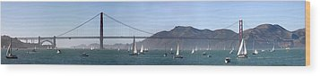 San Francisco Bay Wood Print by Gary Lobdell