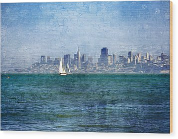 San Francisco Bay Wood Print by Serena King