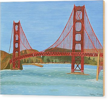 San Francisco Bridge  Wood Print by Magdalena Frohnsdorff