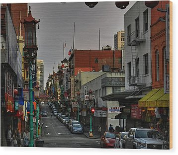San Francisco - Chinatown 001 Wood Print by Lance Vaughn