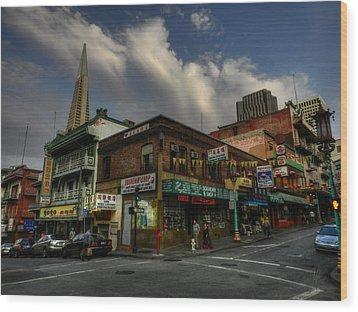 San Francisco - Chinatown 002 Wood Print by Lance Vaughn