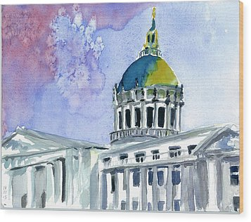 San Francisco City Hall Wood Print