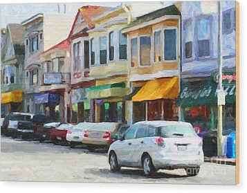 San Francisco Clement Street 2 Wood Print by Wingsdomain Art and Photography