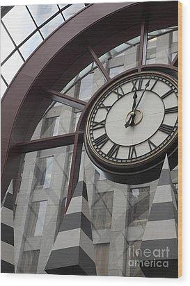 San Francisco Crocker Galleria - 5d17908 Wood Print by Wingsdomain Art and Photography