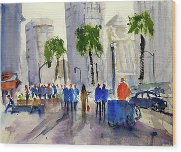 San Francisco Embarcadero Wood Print
