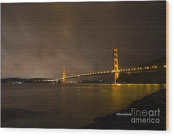 San Francisco- February Wood Print