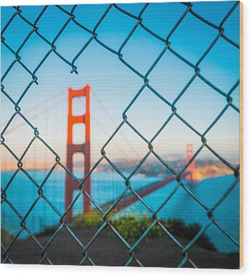 San Francisco Golden Gate Bridge Wood Print by Cory Dewald