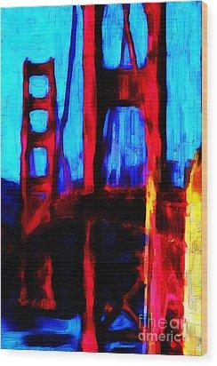 San Francisco Golden Gate Bridge Wood Print by Wingsdomain Art and Photography