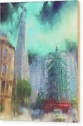 San Francisco Wood Print by Michael Cleere