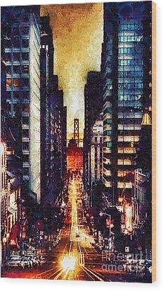 San Francisco Wood Print by Mo T