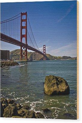 San Francisco Wood Print by Niels Nielsen
