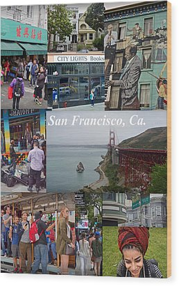 Wood Print featuring the photograph San Francisco Poster by Joan Reese