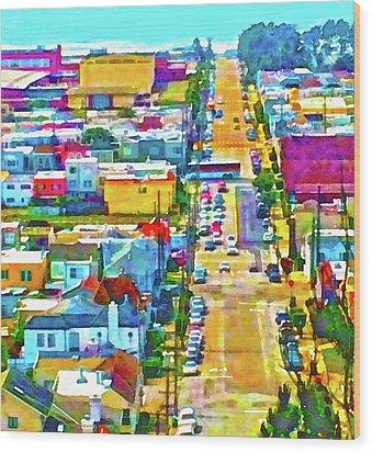San Francisco Quintara View Wood Print
