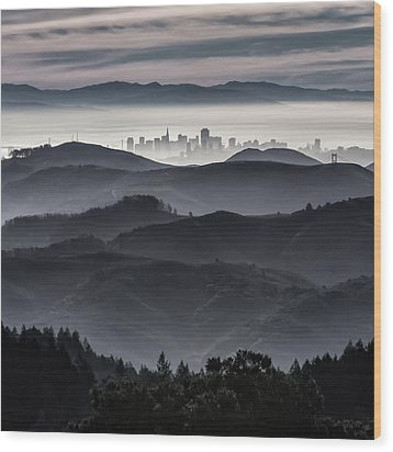 San Francisco Seen From Mt. Tamalpais Wood Print
