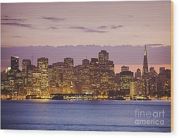 San Francisco Skyline Wood Print by Bryan Mullennix