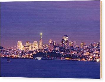 San Francisco Skyline Wood Print by Kevin Ho