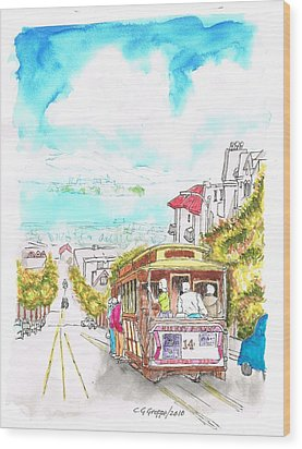 San Francisco Trolley - California Wood Print