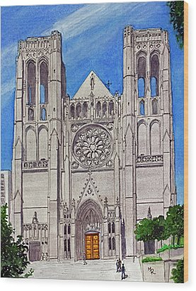 San Francisco's Grace Cathedral Wood Print
