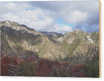 San Gabriel Mountains National Monument Wood Print by Kyle Hanson
