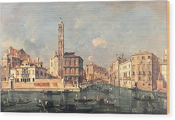 San Geremia And The Entrance To The Canneregio Wood Print by Francesco Guardi